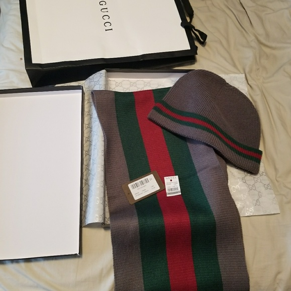 Gucci beanie and scarf set 3d3c4925654